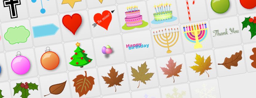 Holidays & Occasions Free Editable Clip Art.