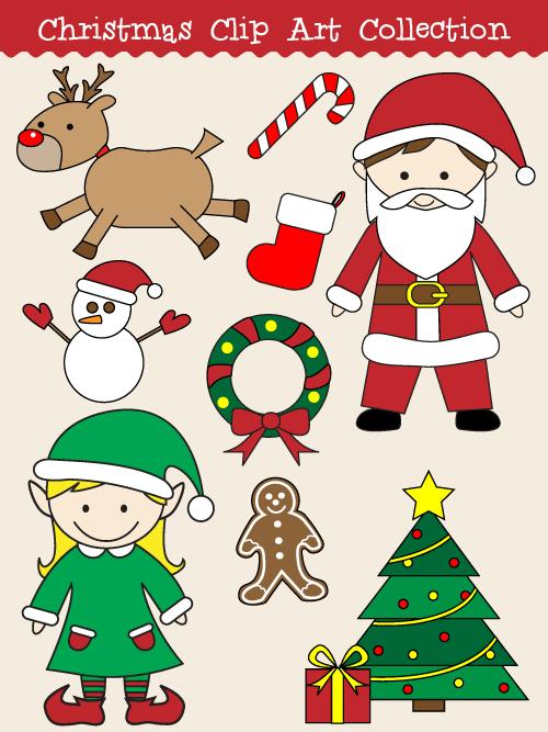 Cute Holiday Clip Art.