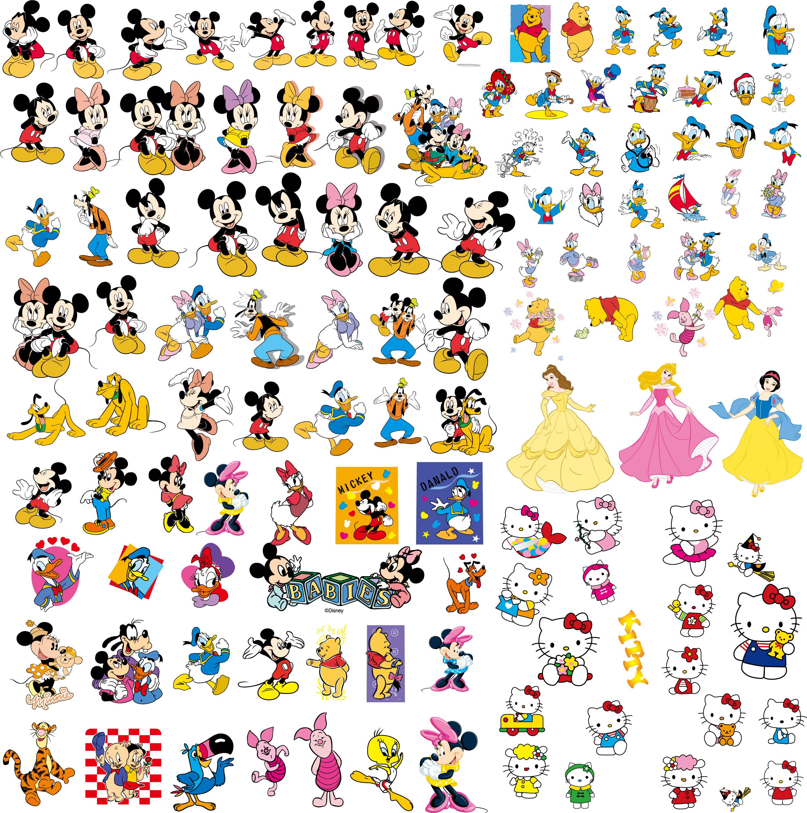 Vector clipart collections.