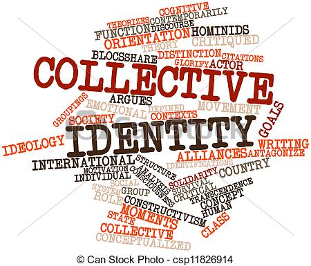 Clipart of Collective identity.