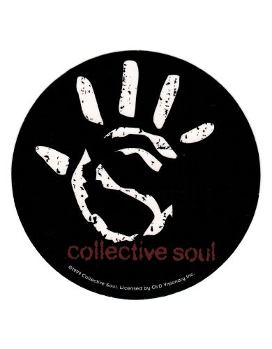 Collective Soul Hand Round Sticker Approximately 4 inches x.