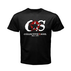 Details about CS COLLECTIVE SOUL logo Rock alternative band Men\'s New T  shirt S to 3XL.