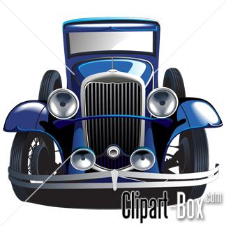 CLIPART VINTAGE CAR.