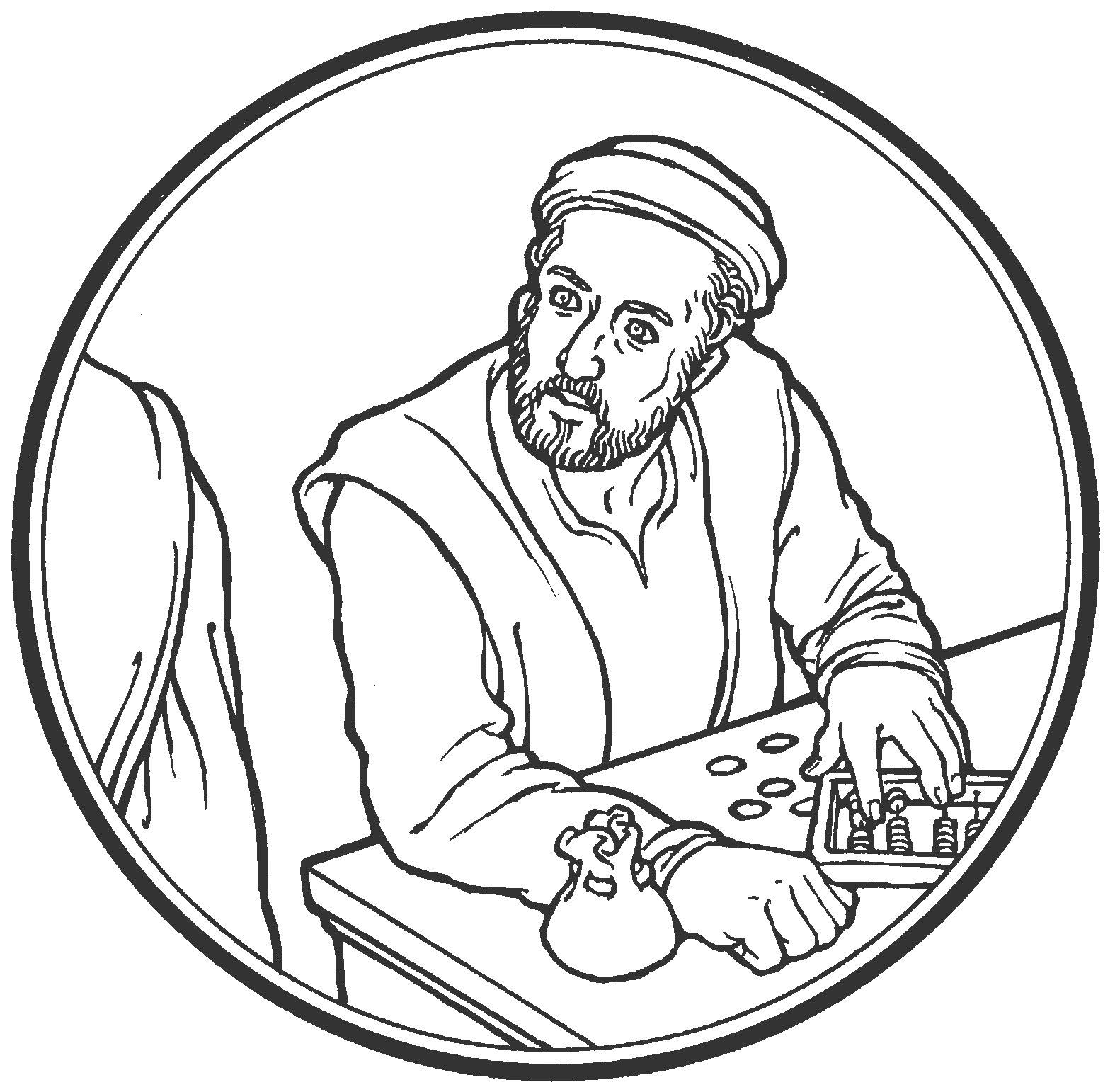 Tax collector clipart.