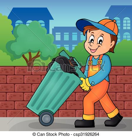 Garbage collector clipart.