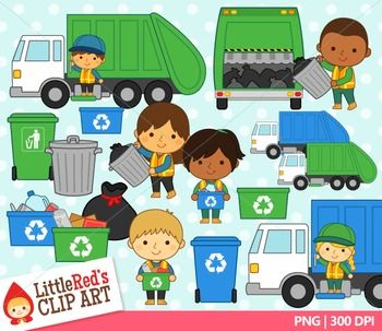 Trash Collectors Clipart.