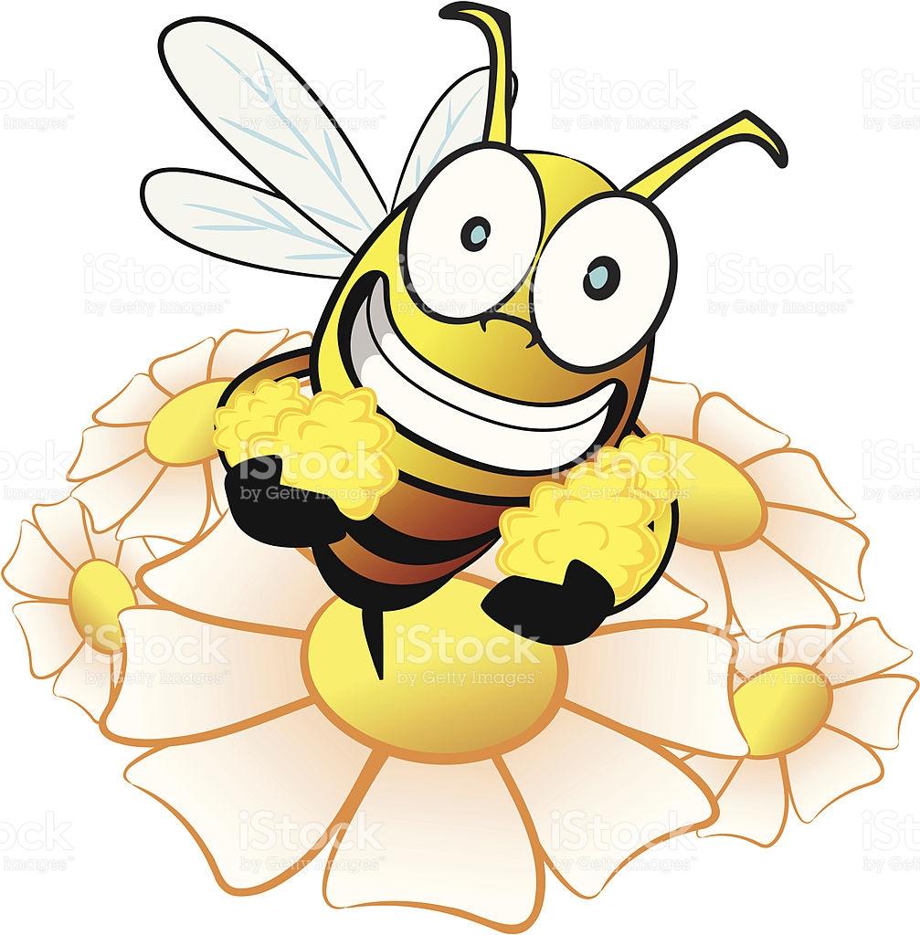 Bee Collecting Nectar Cartoon stock vector art 165620102.