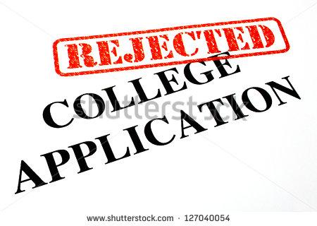 Closeup Rejected College Application Letter Stock Illustration.