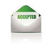 College Acceptance Letter Clipart.