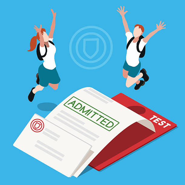 College Admission Clip Art, Vector Images & Illustrations.