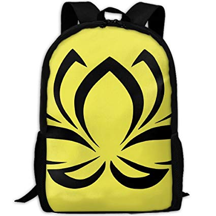Amazon.com: SuBenSM Black Lotus Clipart Backpack Daypack Fit.