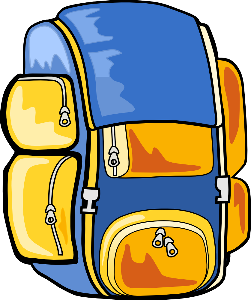 Clipart backpack college bag, Clipart backpack college bag.