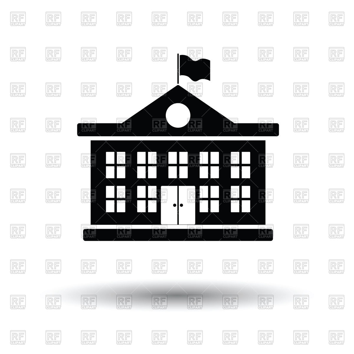 School building icon, college or university on white background Stock  Vector Image.