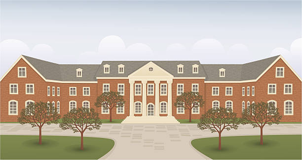 Best University Campus Building Illustrations, Royalty.