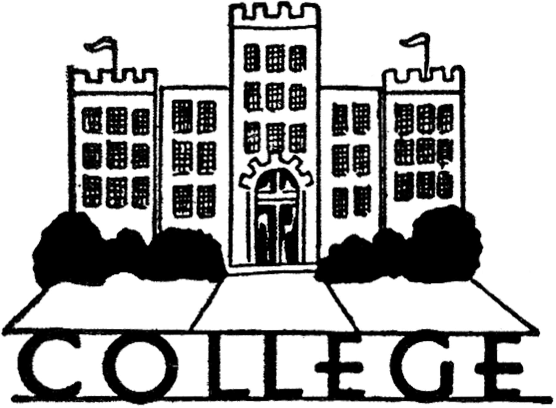 College campus clip art.