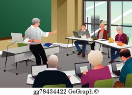 College Classroom Clip Art.