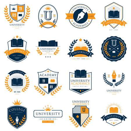 11,336 University Logo Stock Vector Illustration And Royalty Free.