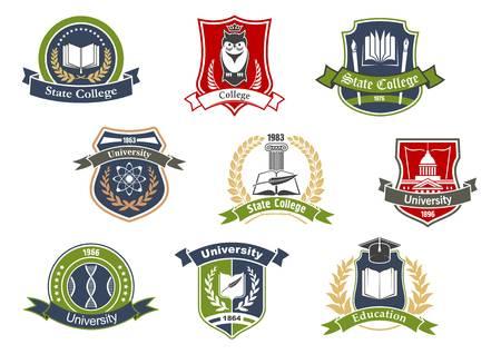 11,336 University Logo Stock Vector Illustration And Royalty Free.
