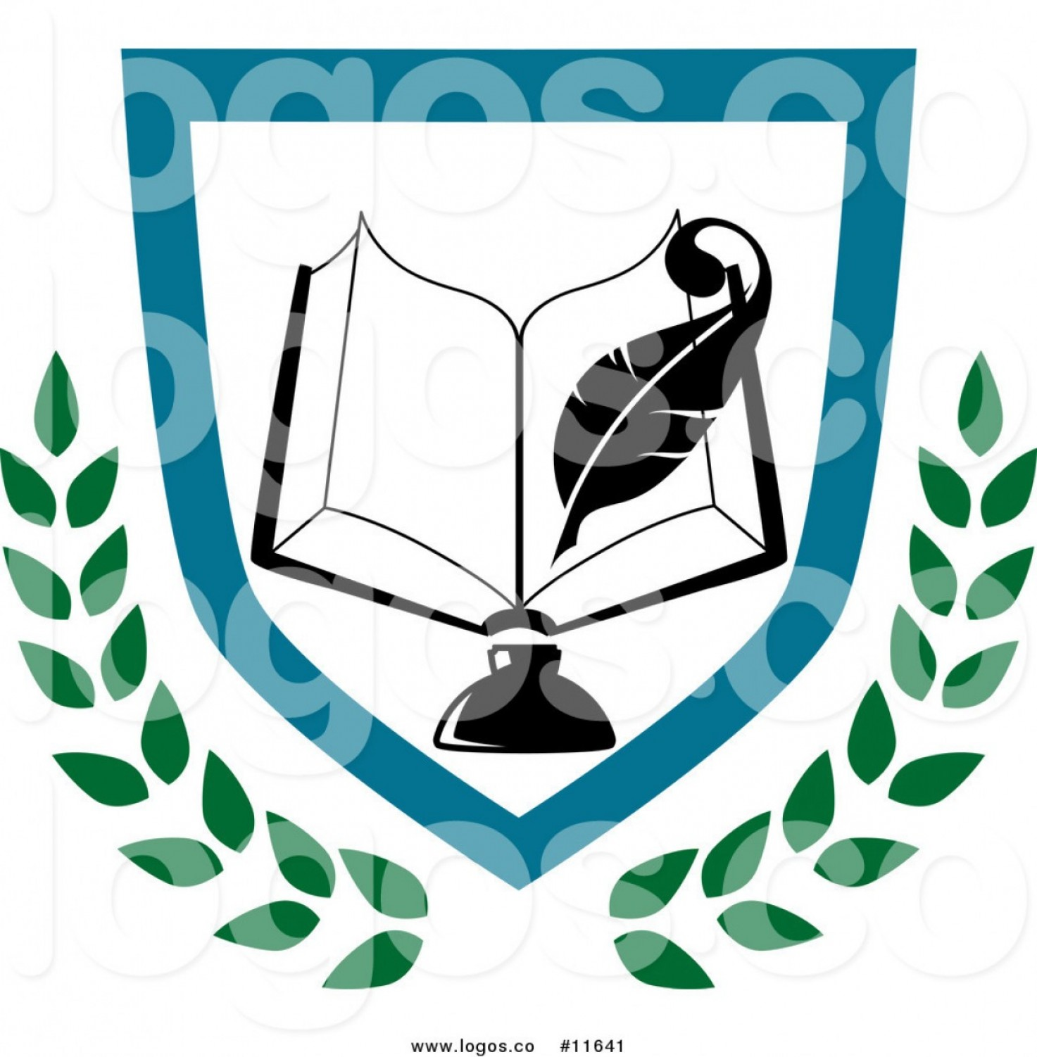 Royalty Free Clip Art Vector Logo Of A University Or College Book.