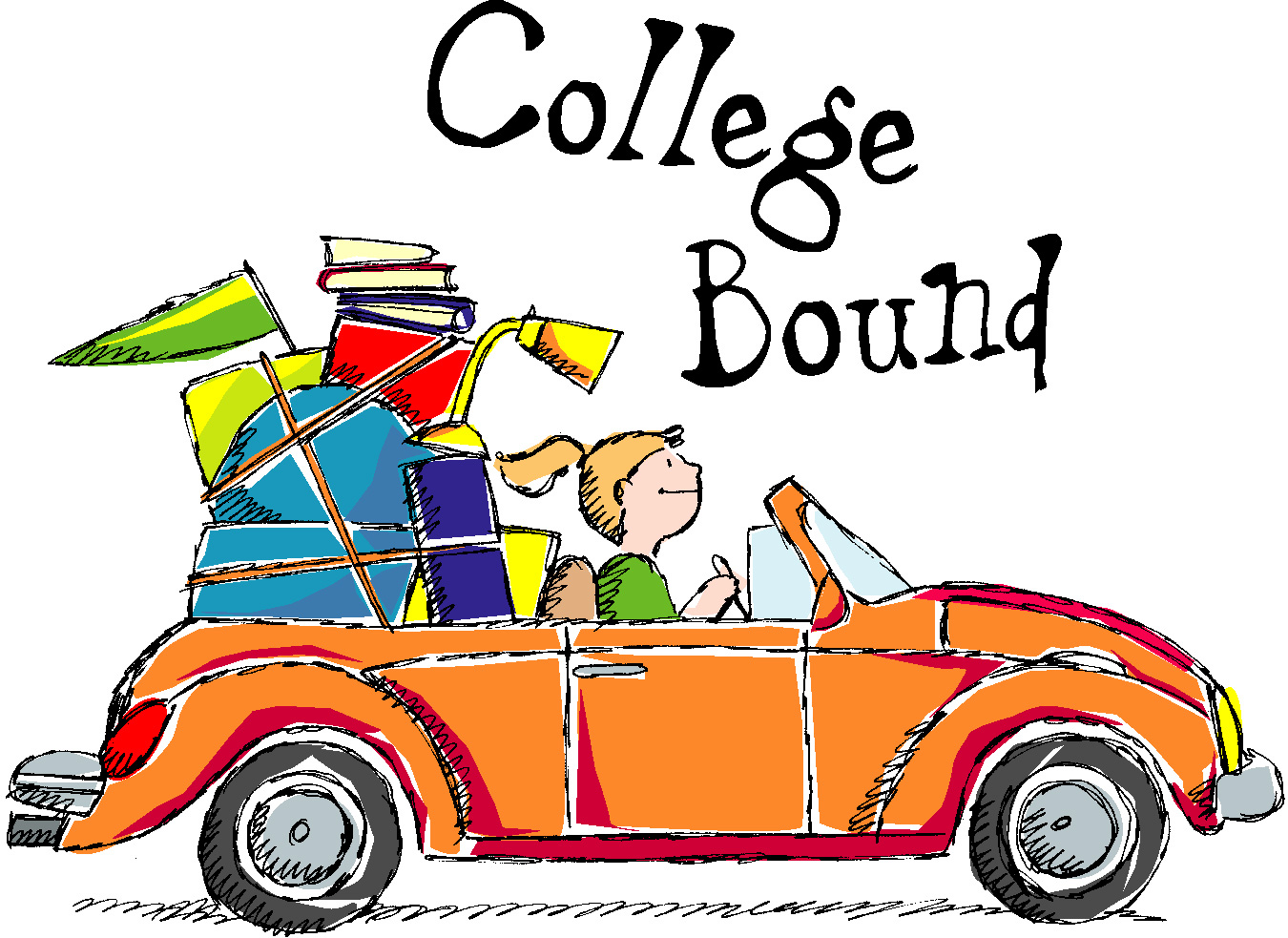 Going To College Clipart.