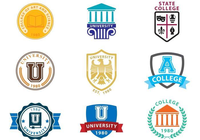 University Logo Vectors.