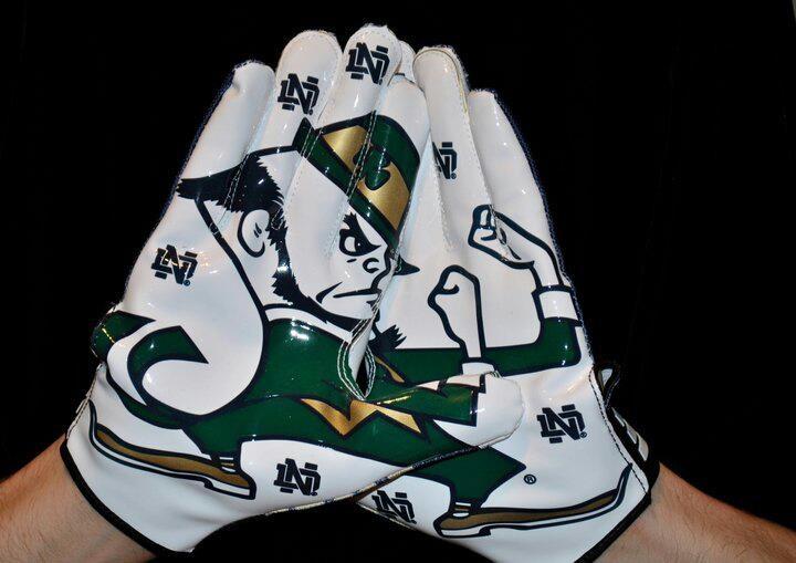 ND Leprechaun gloves.