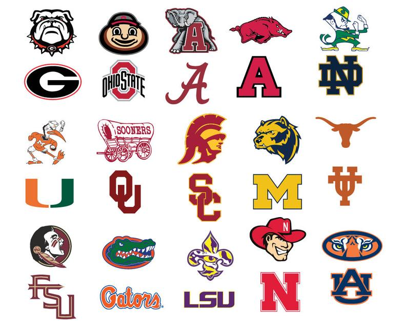 College Football svg, Nfl svg, Football svg, Clipart, cut files, print  files, T.