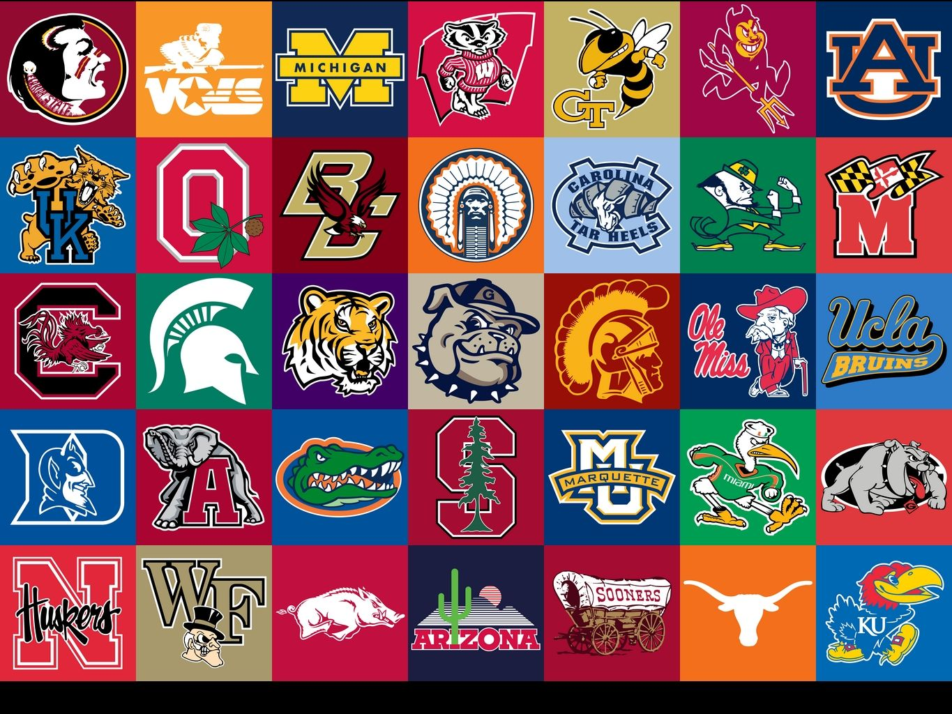 College Football Team Logo.