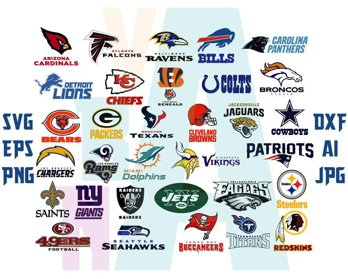 NFL Svg American Football Silhouette NFL team logos College Football.