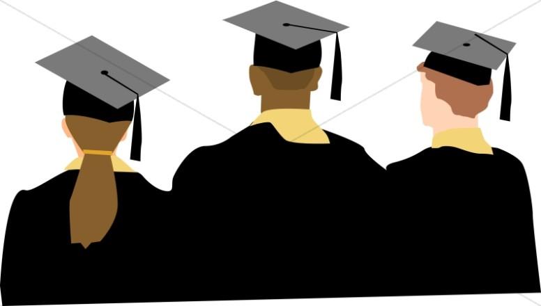 Graduation ceremony clipart college graduate pencil and in color.