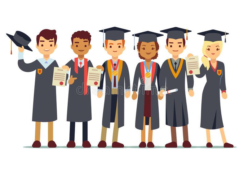 College Graduate Stock Illustrations.