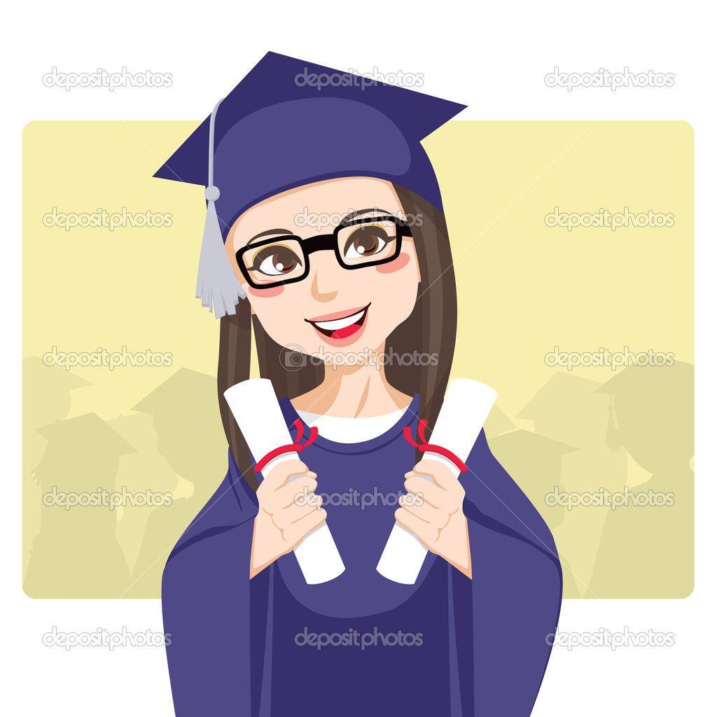 graduation cartoon.