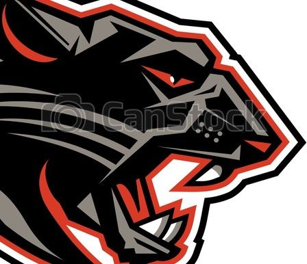 EPS Vector of panthers mascot head team design for school.
