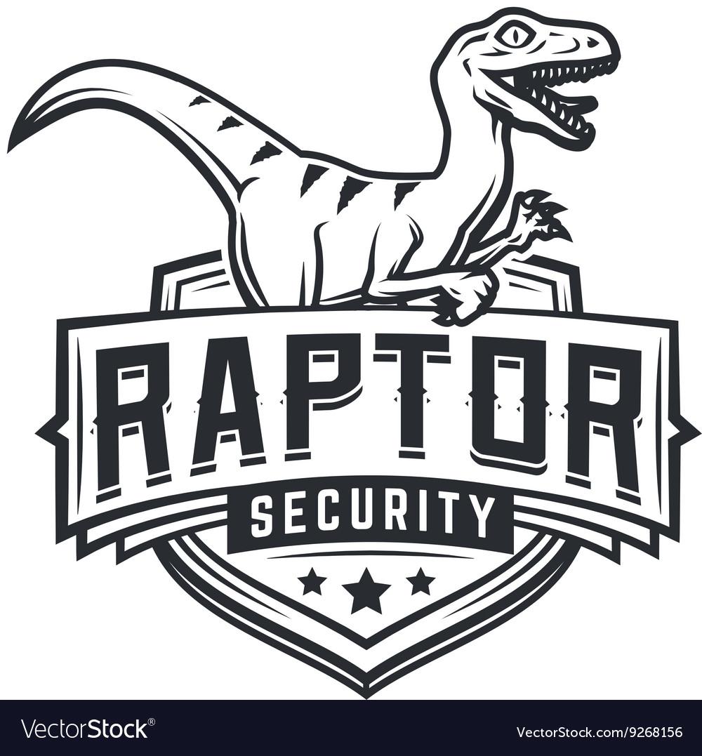 Raptor sport logo mascot design Vintage college.
