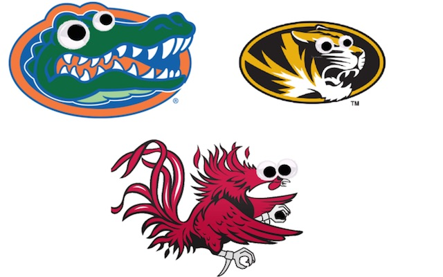 Crafting, college football style: Mascots get weird with googly eyes.
