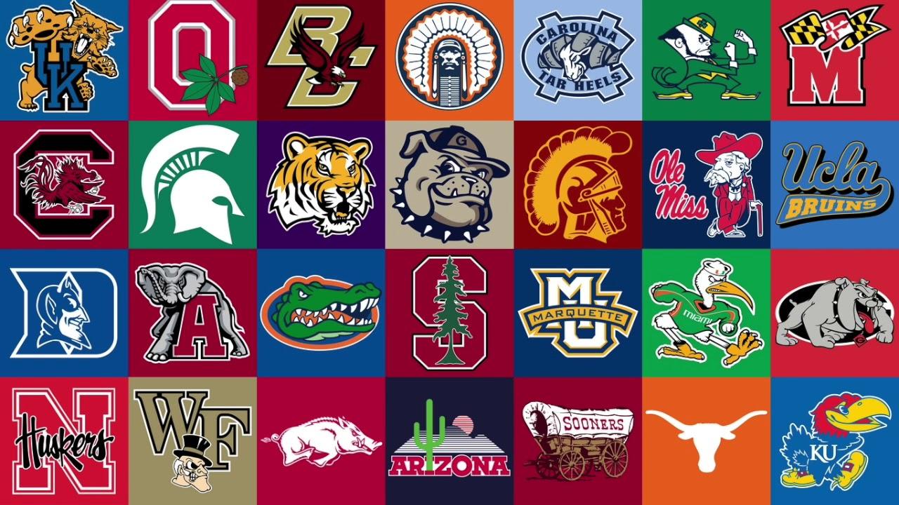 Top 5 Live College Mascots.