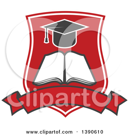 Clipart of a College or University Design of a Graduation Cap and.