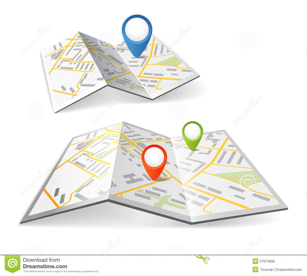 College Road Map Clipart.