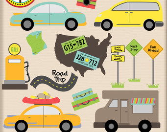 Watch more like Road Trip Map Clip Art.