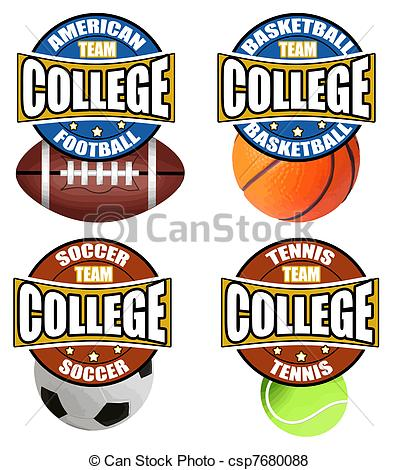 College Sports Clipart.