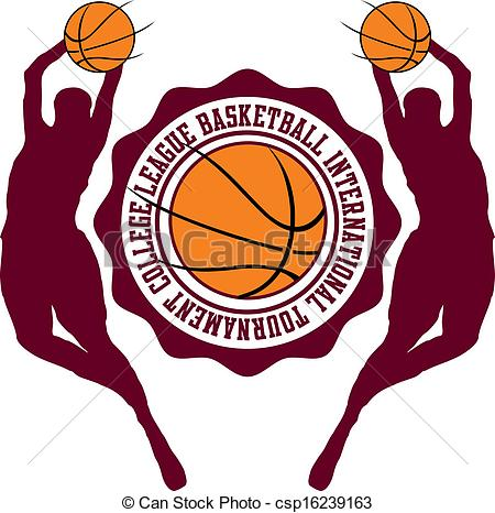 college basketball sports vector art.