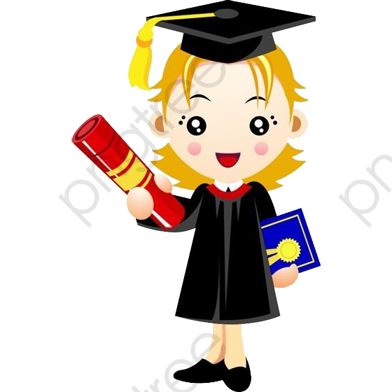 Cartoon College Student Graduation, Cartoon Clipart, Bachelors Gown.