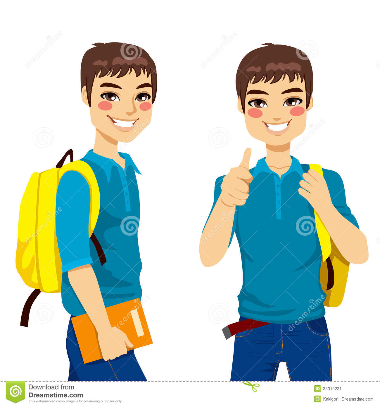 College Students Clipart.
