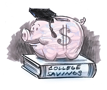 Money for College Students Clip Art.