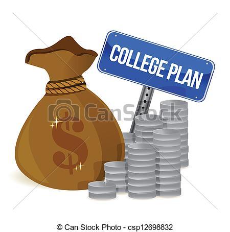 College Money Clipart.