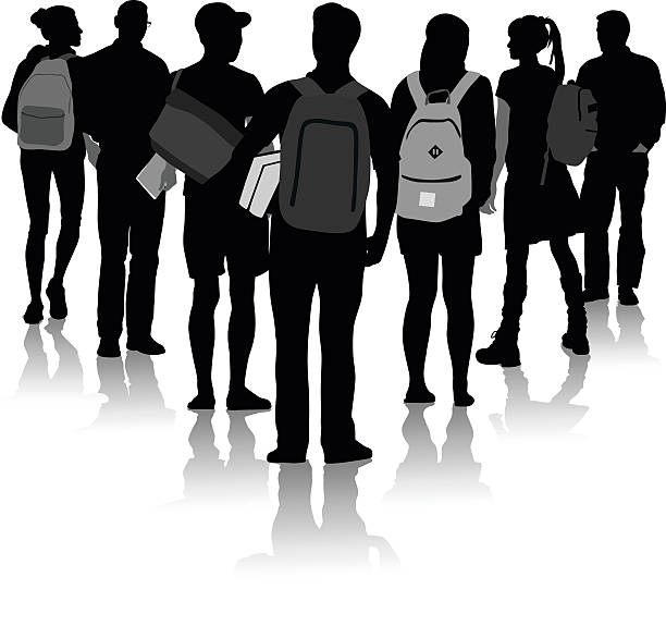 College Student Clipart Black And White.