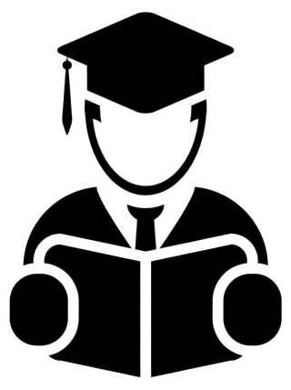 College Chiropractic Qualification Student Vector Icon Clipart Png.