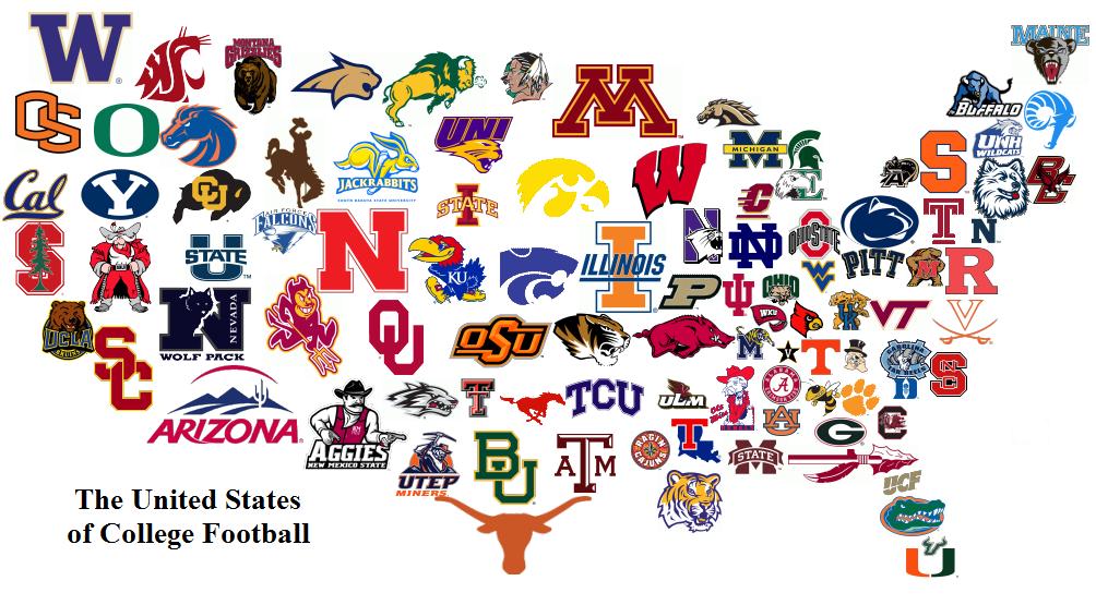 College Football Logos.