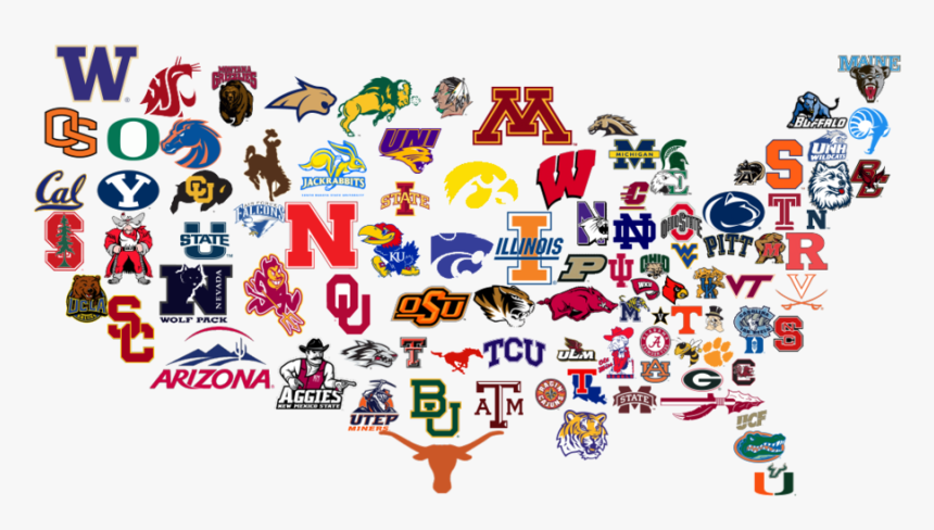College Football Teams Logos Clipart College Football.