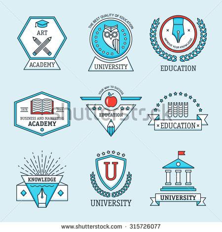 University College School Logo Emblems Stock Vector 259176095.